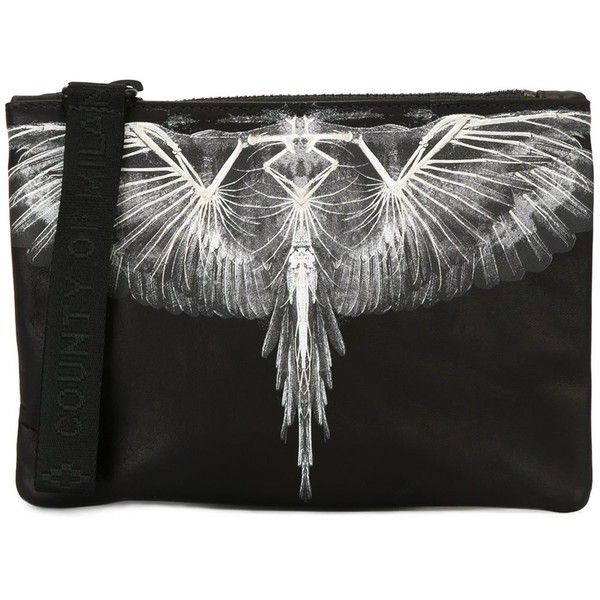 Marcelo Burlon County Of Milan 'Antofalla' document holder ($350) ❤ liked on Polyvore featuring black