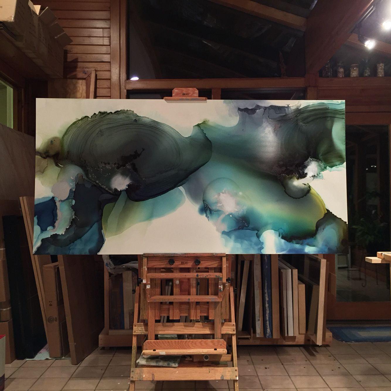 Midnight in the studio w/thunderstorm ⚡️#workinprogress #armani