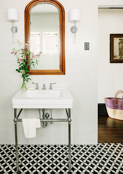 Ooh La La That Tile Floor Bathroom Inspiration Bathroom