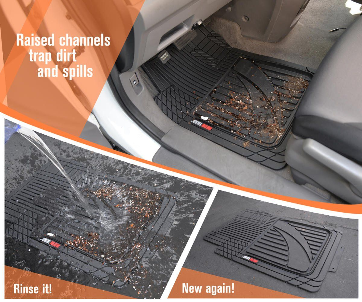 4pc Hd Rubber Floor Mats For Car Suv