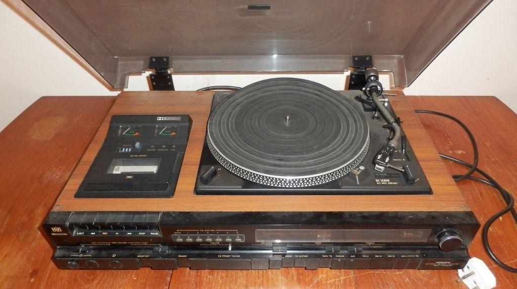 Logical Vintage Music Centre Stand Vinyl Rack Music