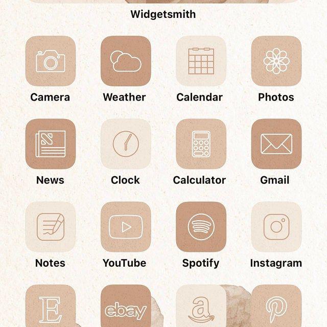 Neutral iOS 14 App Icons