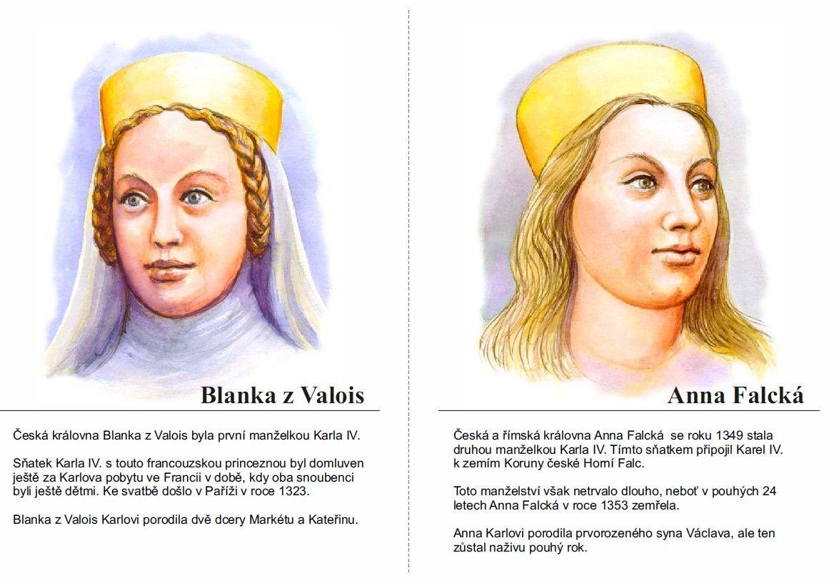 Blanka z Valois a Anna Falcká | History