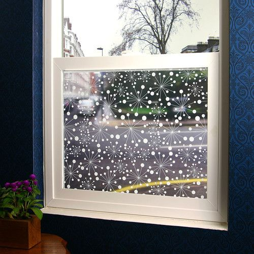 Found it at AllModern - Nova Retro Sheer Window Film