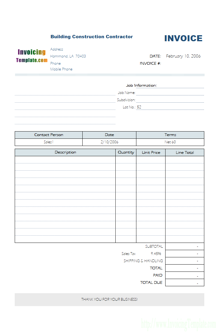 Service Invoice Template Regarding Invoice Template For Work Done 10 Professional Templates Ideas 10 Profession Invoice Template Best Templates Templates