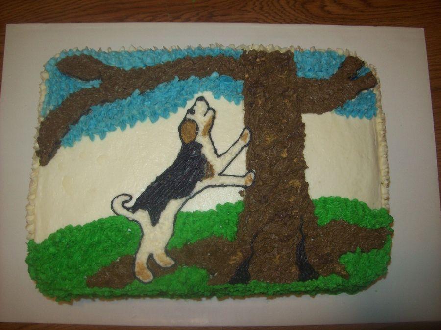 Coon Hunting Birthday Cakes deer hunting cake birthday cakes