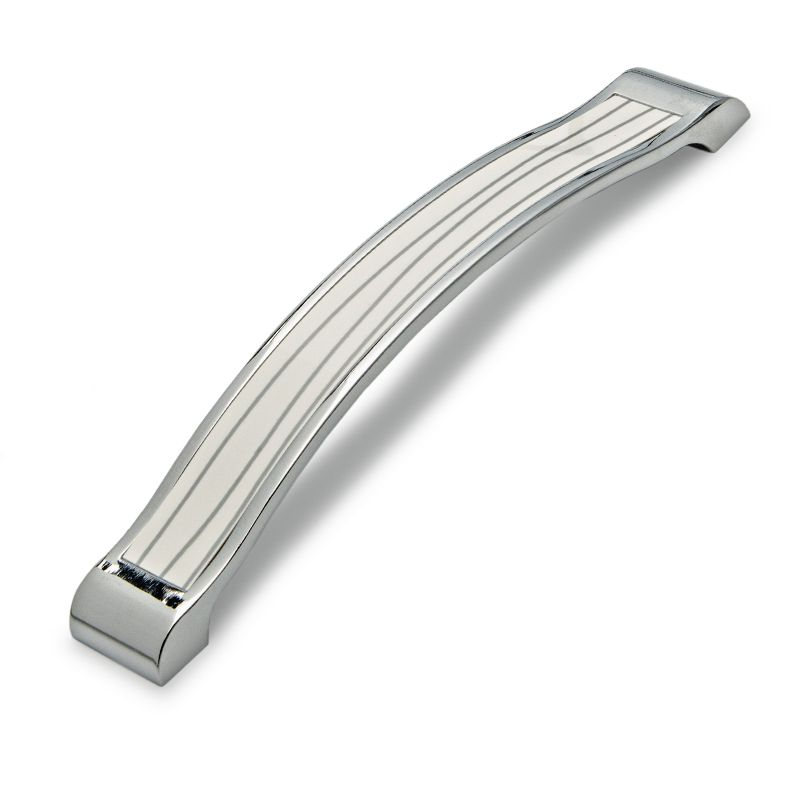 Kida Handle Chrome Plated White 160mm Gelmar R39 99 Chrome