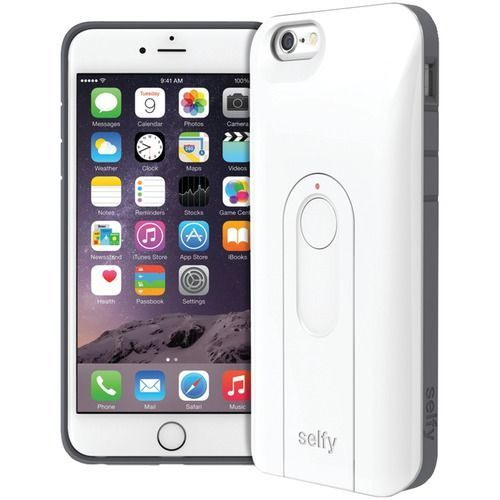 """Iluv Iphone 6 4.7"""" Selfy Dual-layer Case With Bluetooth Remote Shutter (white)"""