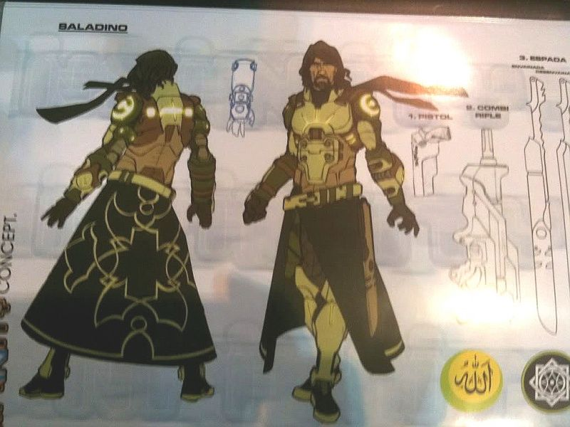 Saladin Human Sphere Infinity the game, Concept art