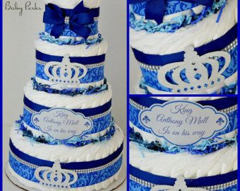 Royal Blue And Gold Baby Shower Blue And Gold Diaper By MsPerks