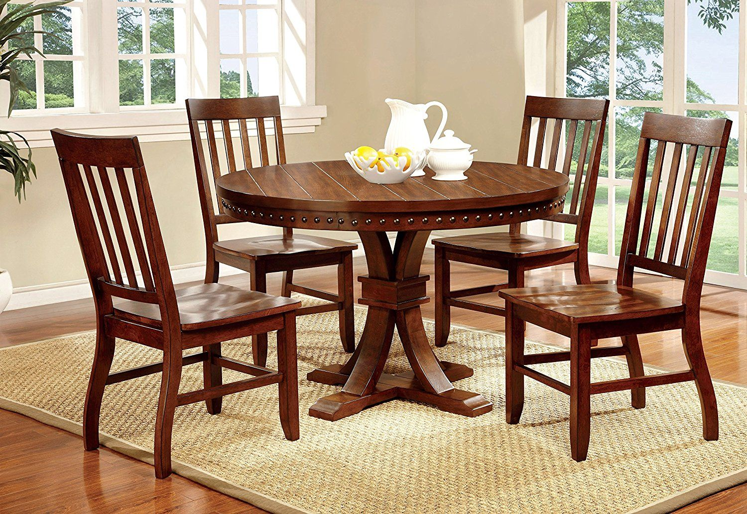 dining room design with castile transitional round dining table