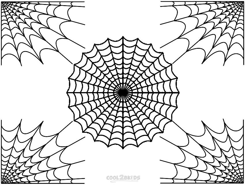Spider Web Coloring Pages Letras