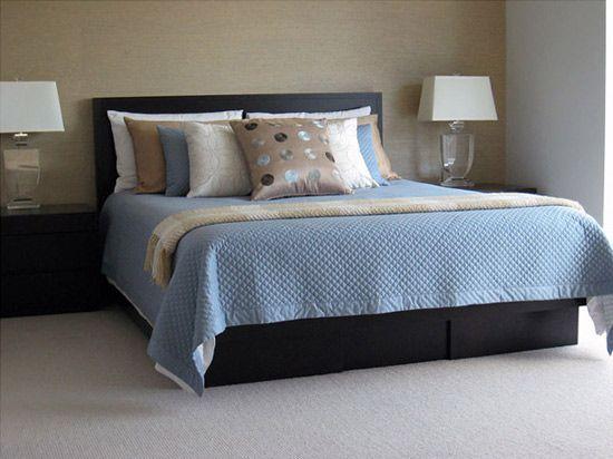 West Coast Design Brown Bedroom Decor Master Bedroom Interior