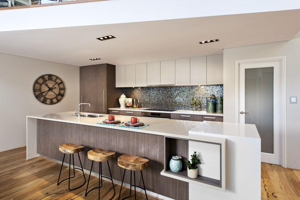 Contemporary Minimalist Kitchen Design With White Sleek