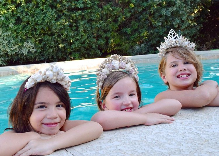 How to Make Shell Tiaras for a Mermaid