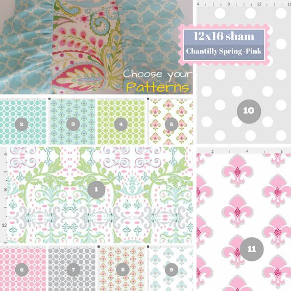 Toddler Ruffle Fancy Butterfly Pillow Sham 12x16 Chantilly