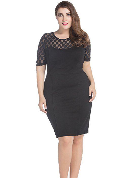 a577a6ccf9e Chicwe Women s Plus Size NR Ponte Shift Dress with Jacquard Lace Top 20  Black