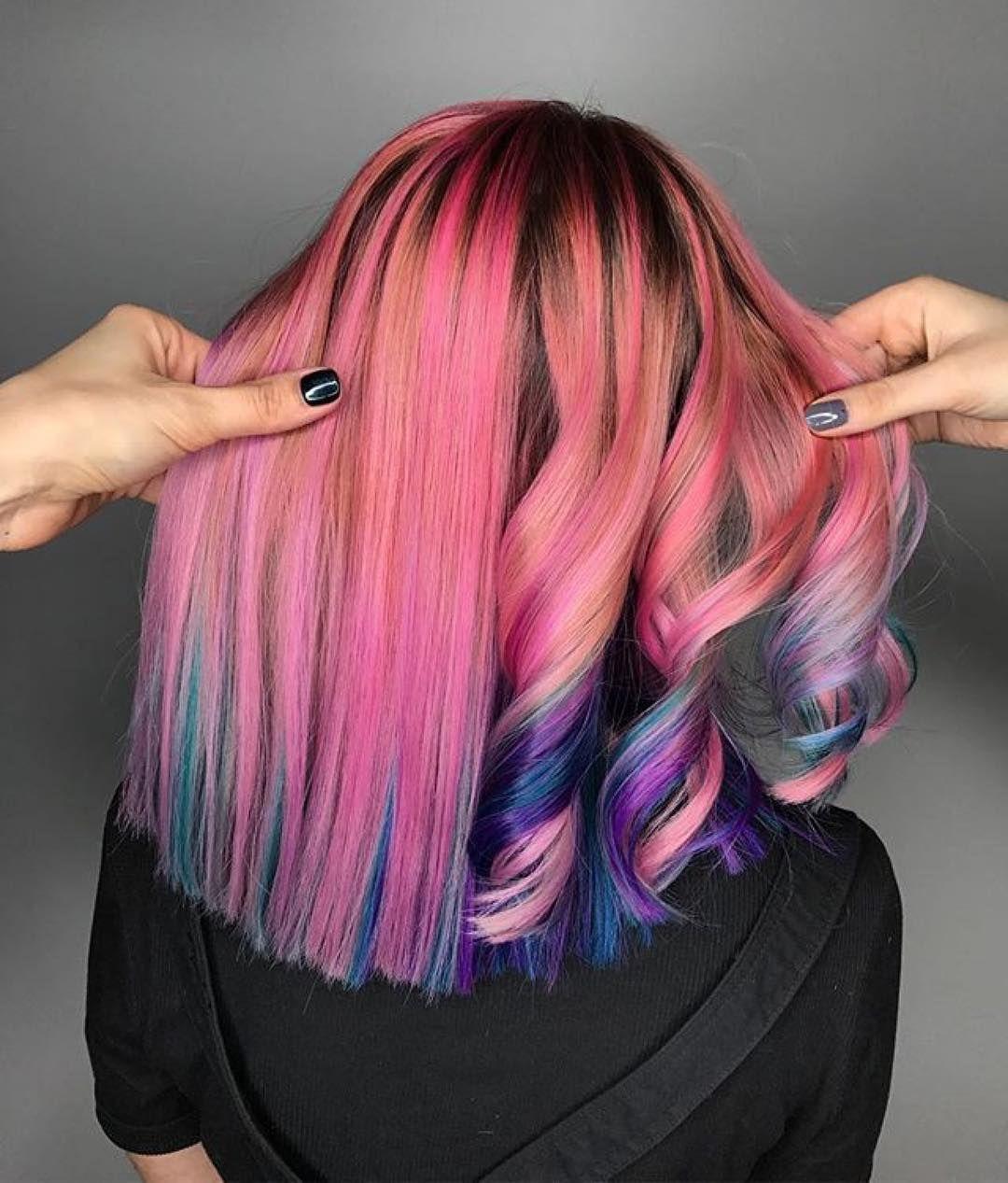 как красиво покрасить волосы фото юных