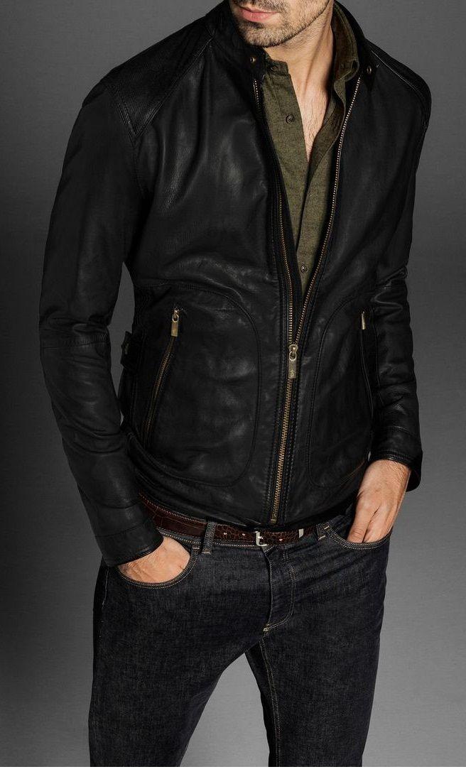 Mens Premium Cowhide Leather Suit Slim Fit Fashion Genuine Leather Mens Suit