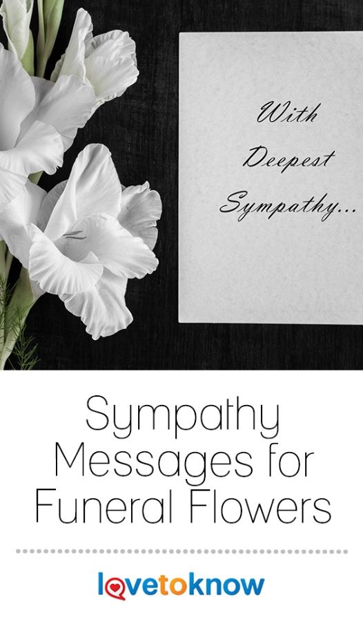 19 comforting sympathy messages for funeral flowers