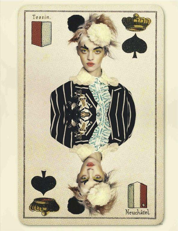 The Joker's Wild, UK Vogue photo shoot.