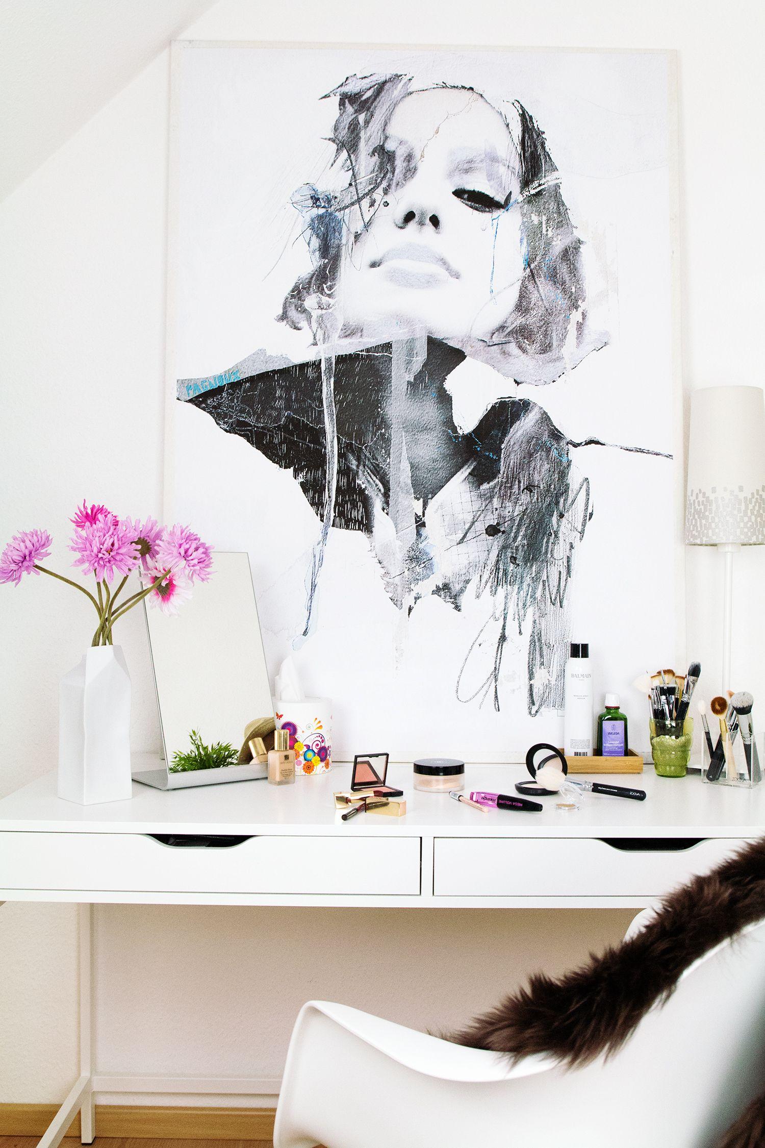 gestaltungsideen f r schmink und schreibtisch so bringe ich pepp in meine wohnung mit. Black Bedroom Furniture Sets. Home Design Ideas