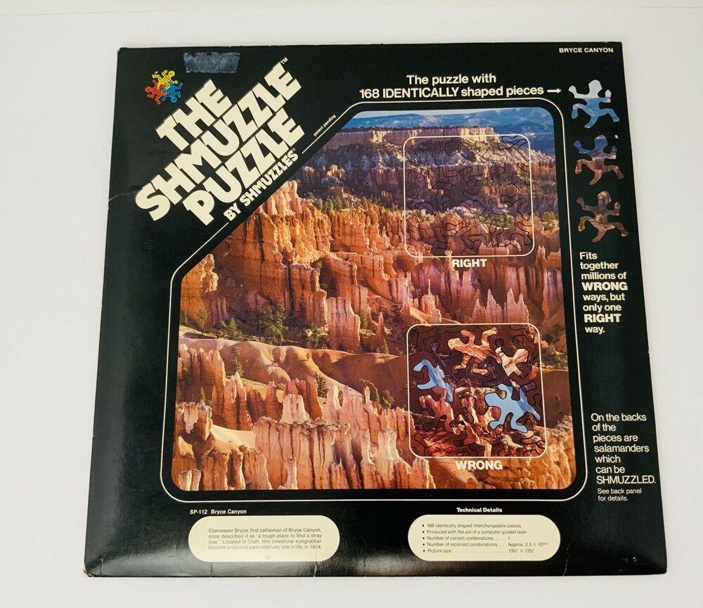 Vintage Shmuzzle Puzzle Bryce Canyon National Park 168