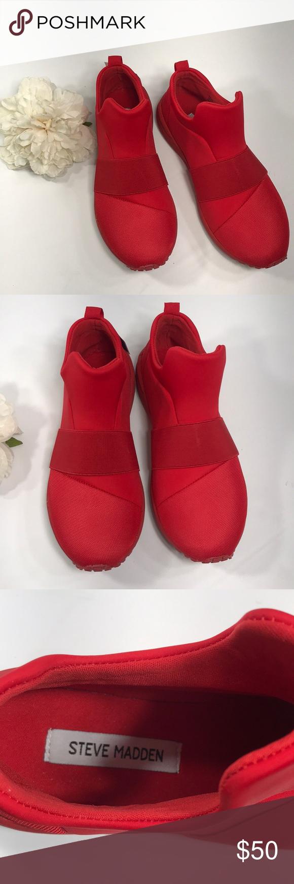 65a647bea11 Steve Madden Hueber Red Slip On Sneaker Brand new with box Red slip ...