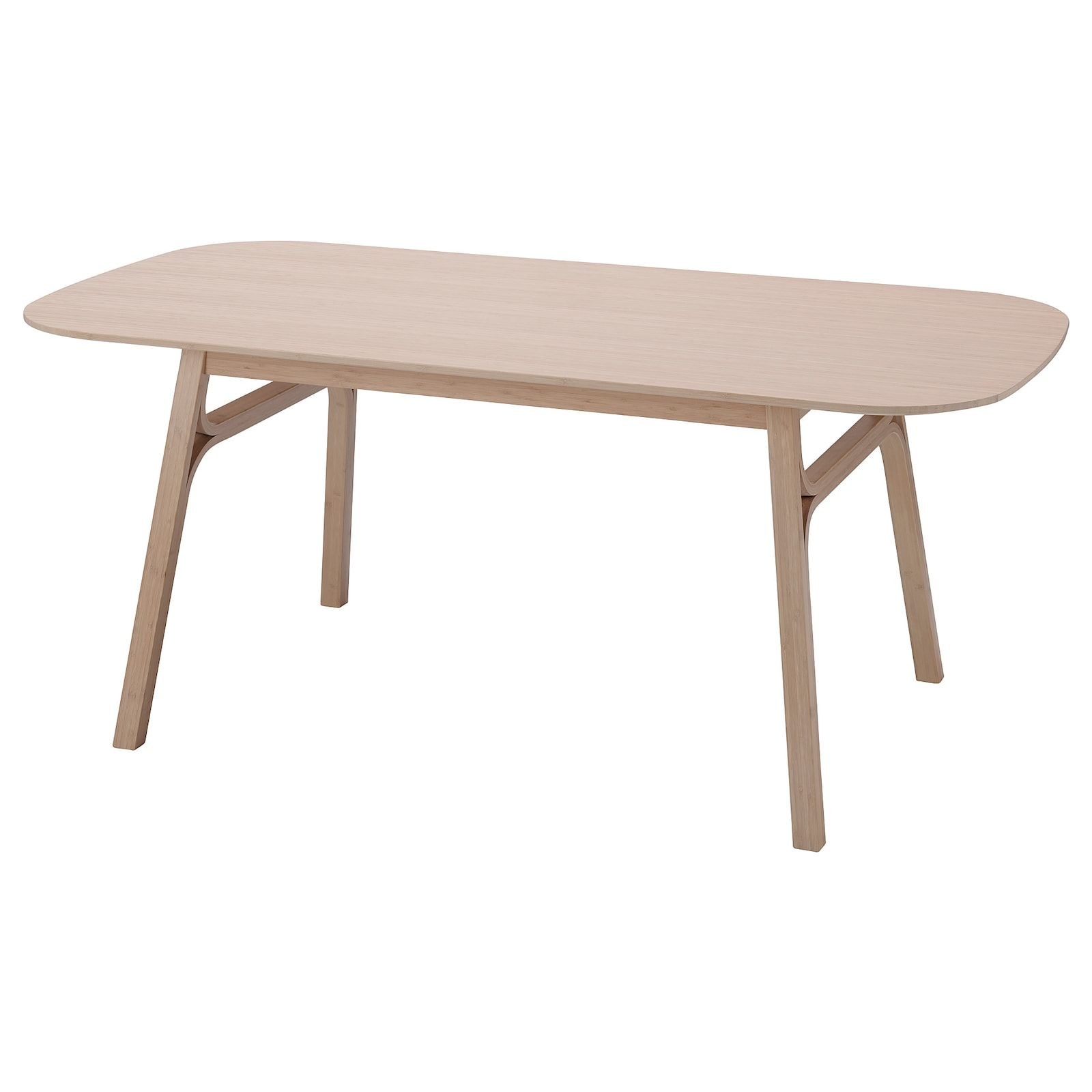 Voxlov Dining Table Light Bamboo Ikea In 2020 Dining Table Lighting Light Wood Dining Table Ikea Dining Table