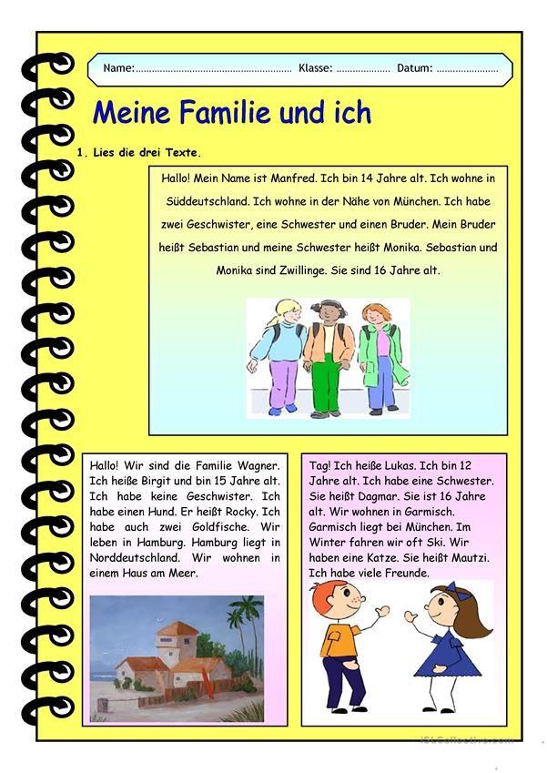 Meine Familie und ich | German and Deutsch