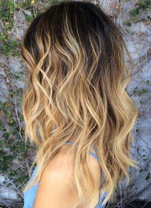 Pretty Blonde End Mid Length Hairstyles 2017 2018 For Women Thick Wavy Hair Blonde Wavy Hair Thick Wavy Haircuts