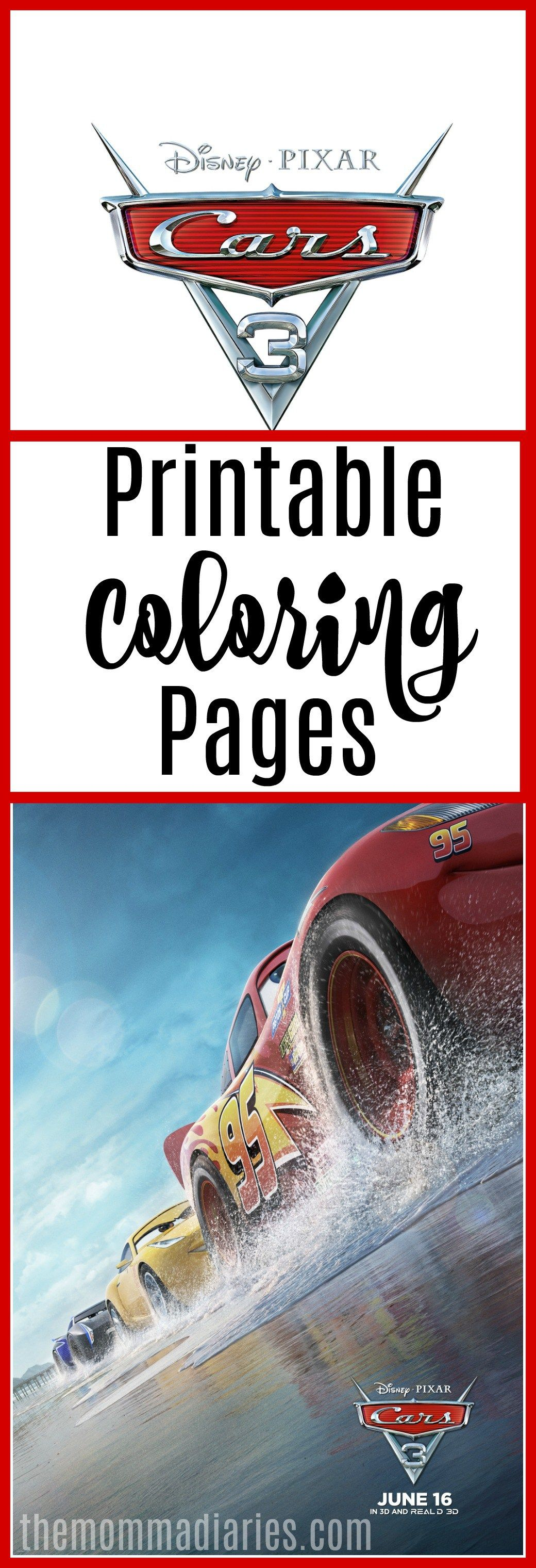 CARS 3 Movie Review - & Printable Coloring Pages