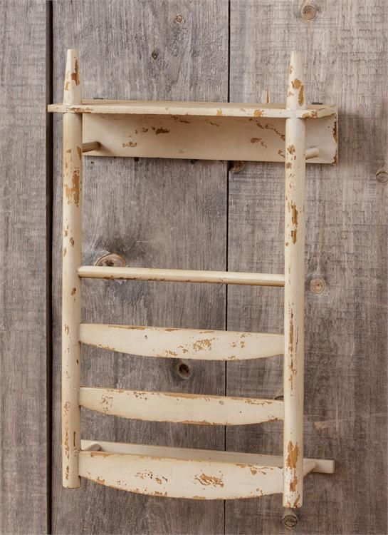 New Primitive Rustic Shabby Farmhouse Chic Wood Chair Back Wall ...