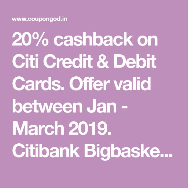 Bigbasket Citibank Offer, [400 CASHBACK] On Credit Card