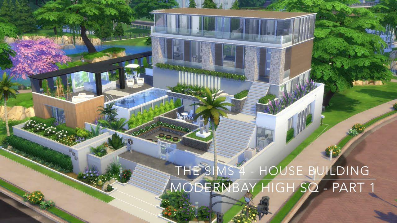The Sims 4 House Building Modernbay High Sq Part 1 Sims 4