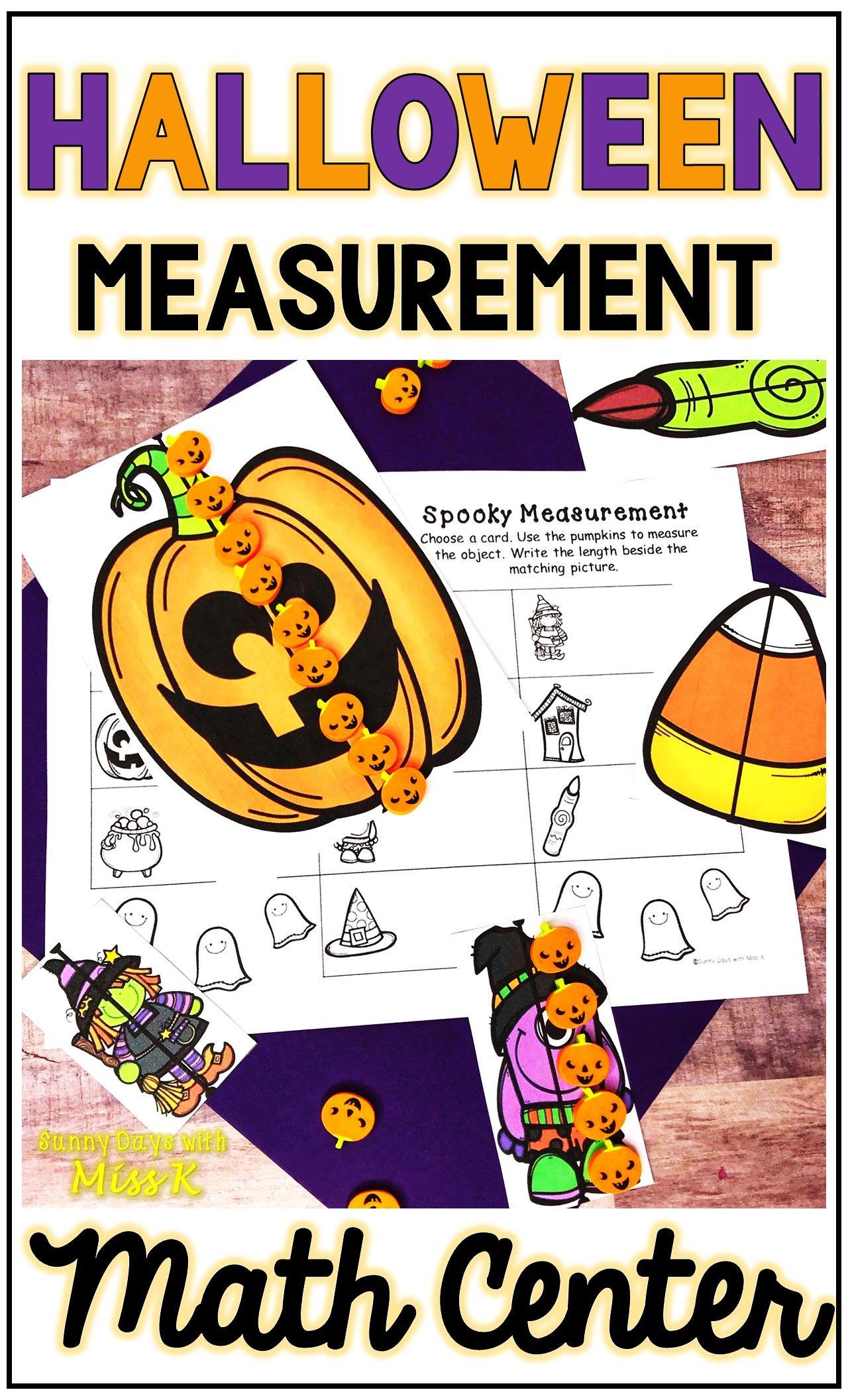 Kindergarten Halloween Math Center