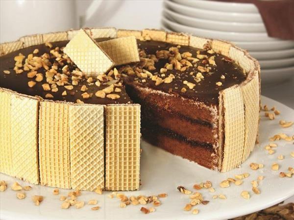 Bolo Wafer De Chocolate Receita Com Imagens Bolo Chocolate