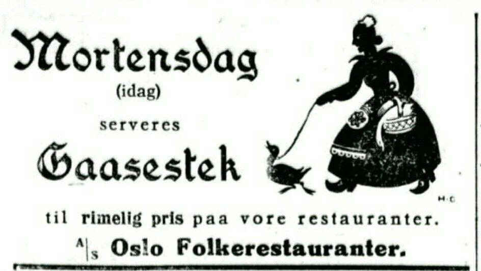 Aftenposten 11.11.1926 Mortensgås