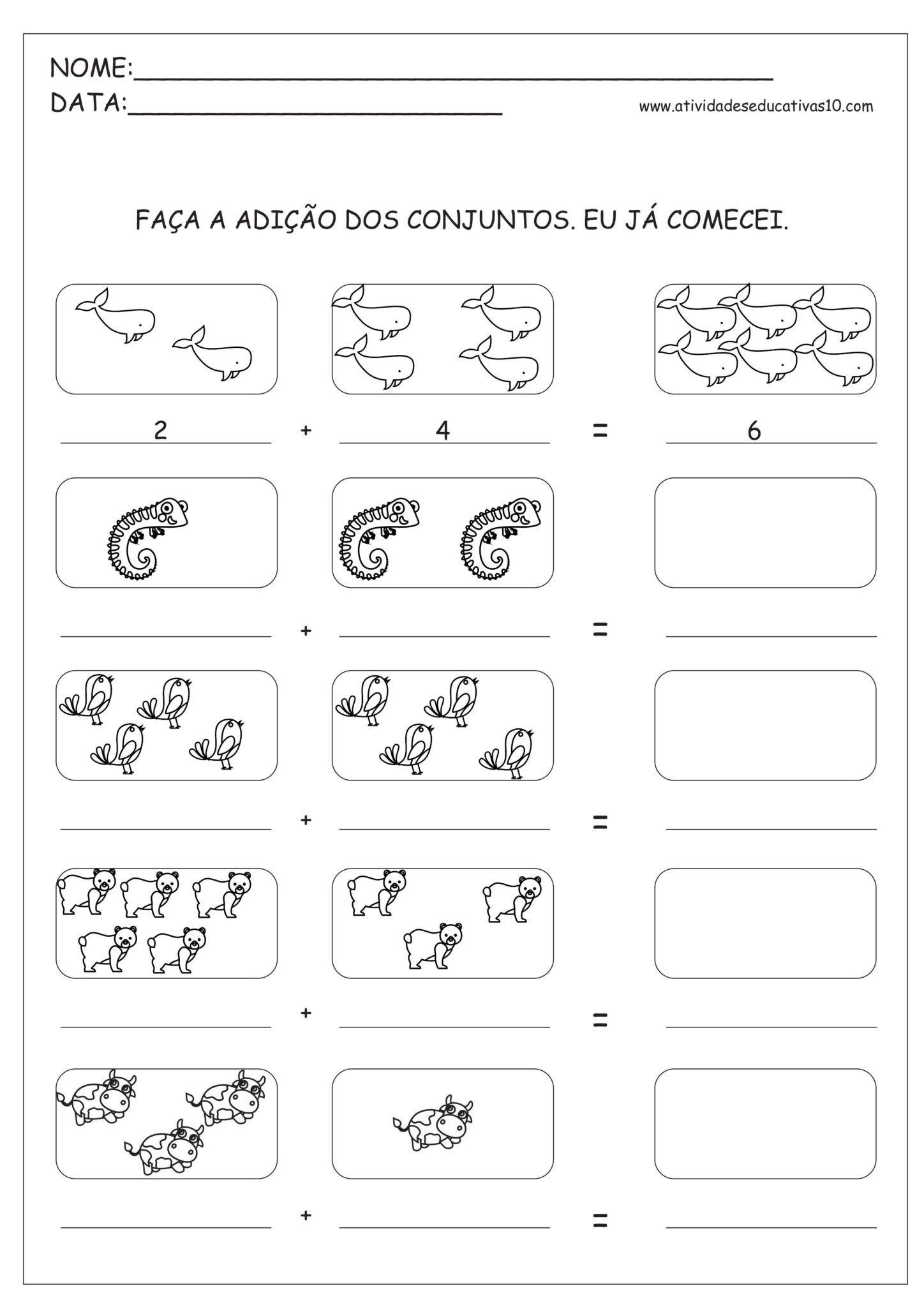 7 - Atividades de Matemática 1º ano - Atividades de Adição ...