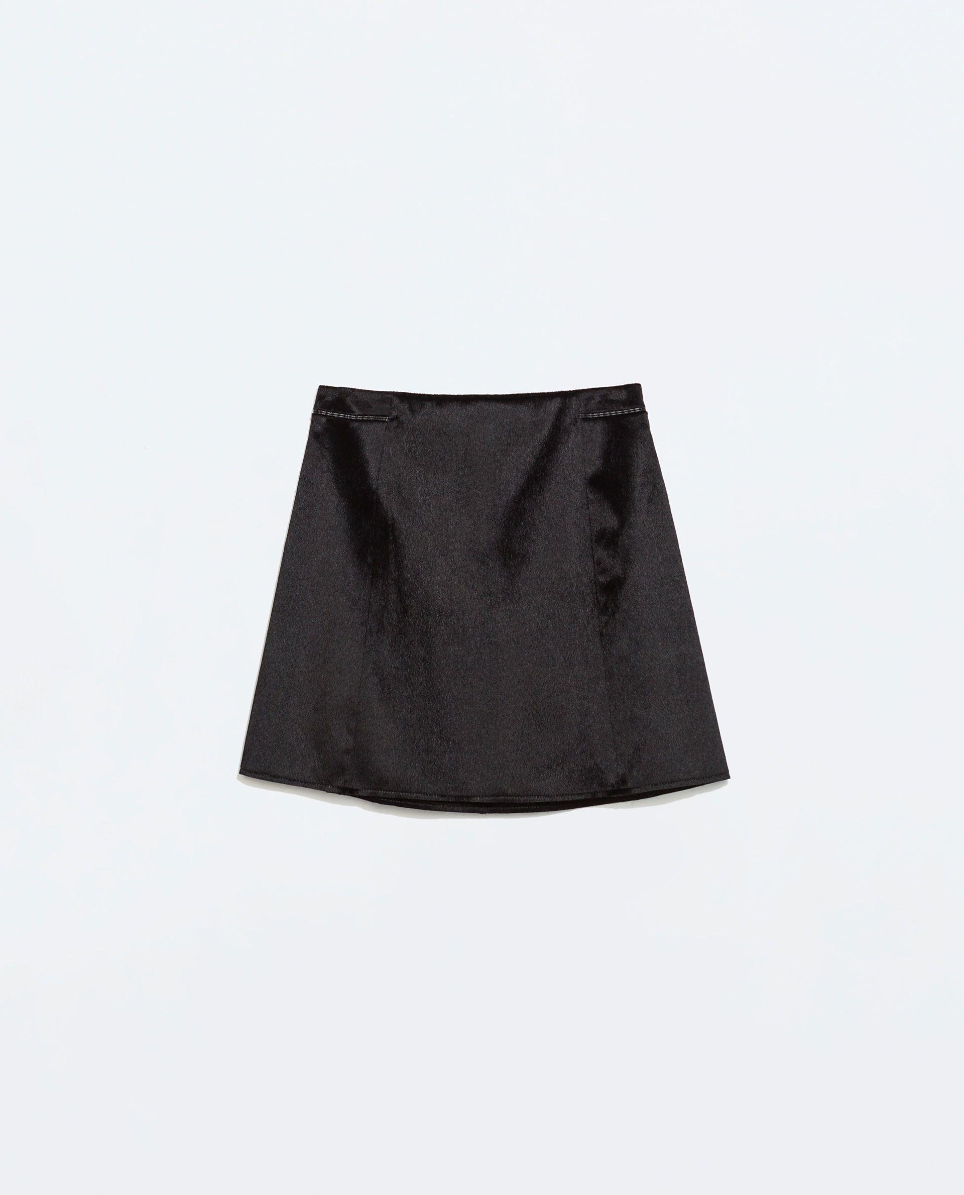 bb49e1d5 ZARA - WOMAN - TEXTURED A-LINE MINI SKIRT | Things to Wear | Zara ...