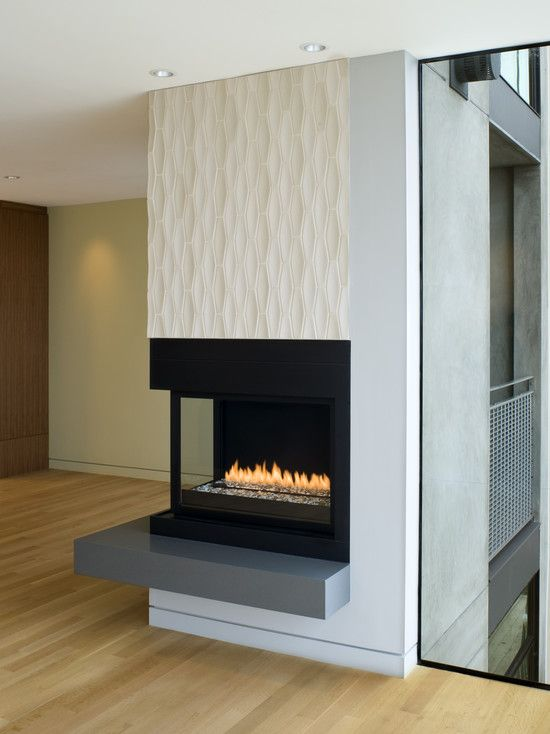 Love The Look Of The Flame Line And Stones   Double Sided Gas Fireplace  Design,