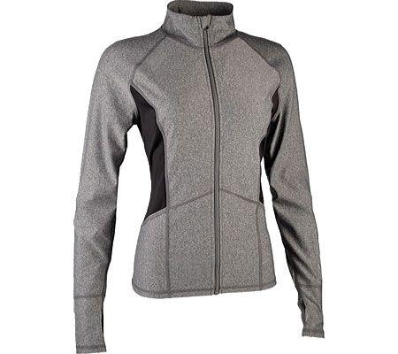 62f2bf6399 Women's Skechers Symmetry Zip Mock Performance Jacket - Charcoal ...