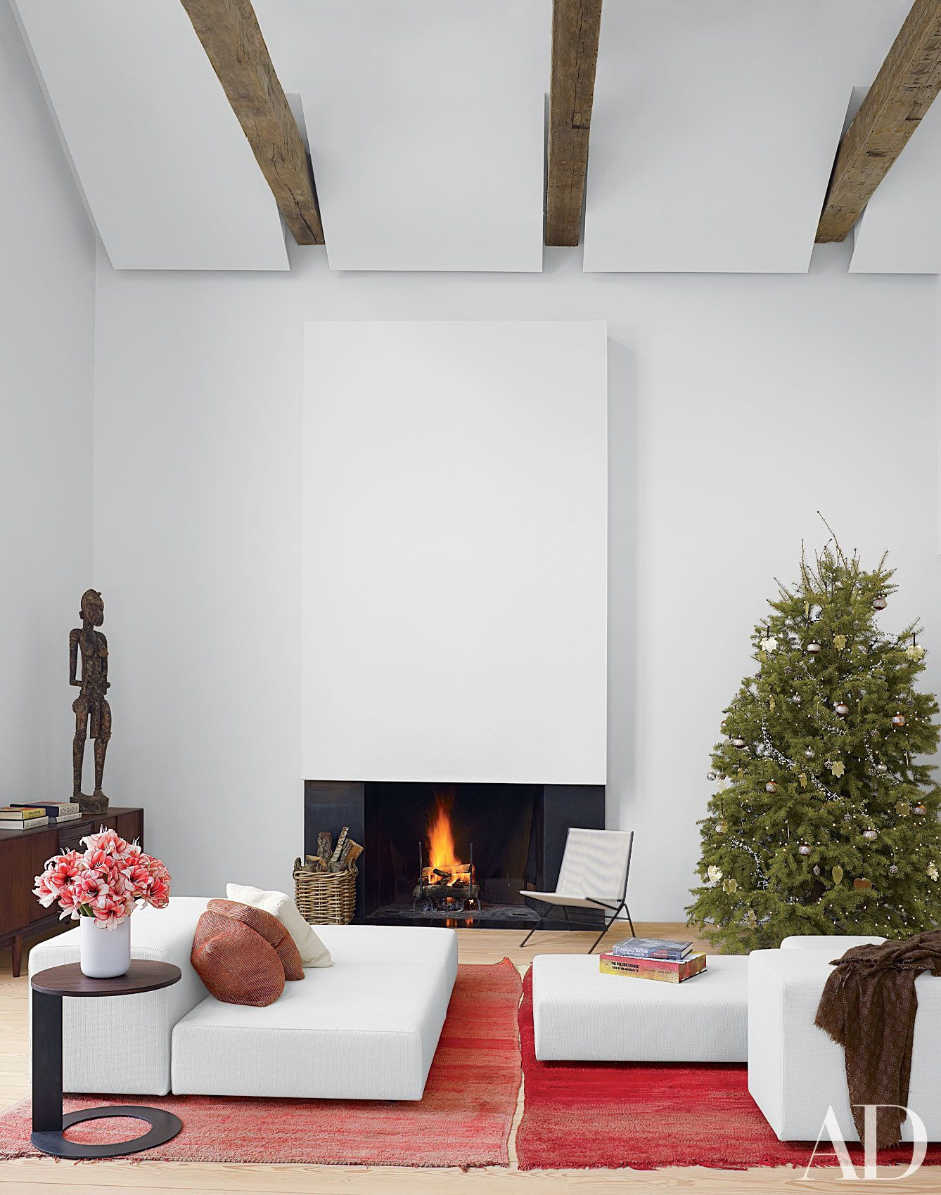 White Fireplace Inspiration Architectural Digest 18