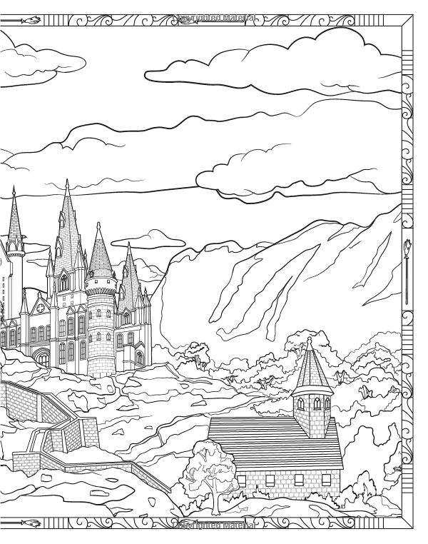 Harry Potter Magical Places And Characters Colouring Book 3 Amazon Co Uk Warner Brothers 9781783706006 Books Coloring Books Magical Places Color