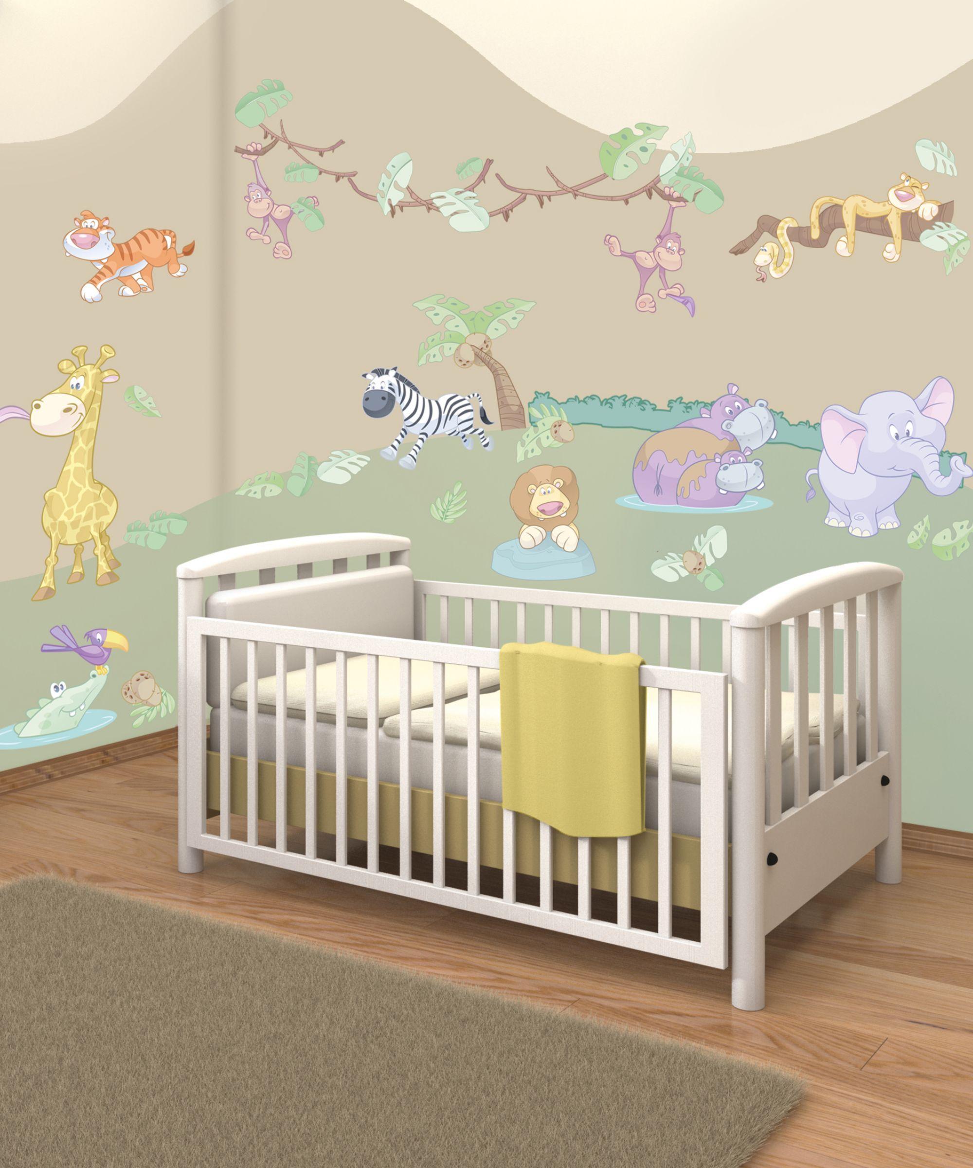 walltastic baby jungle safari room décor kit pinterest safari