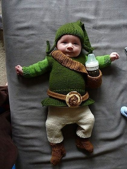 I love that the quiver is the baby bottle holder! so cute!