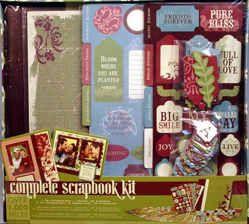 Colorbok Complete 12x12 Scrapbook Kit -1 Hour Start to Finish Step By Step -English Meadow $19.99