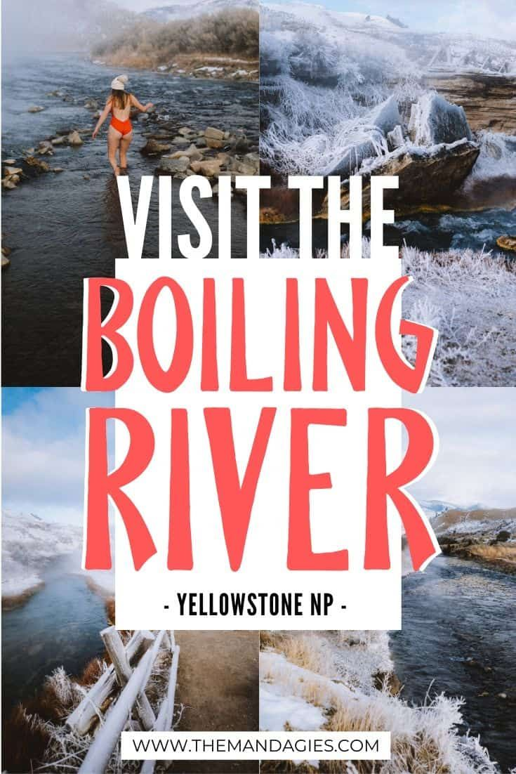 The Boiling River in Yellowstone National Park feels like a hidden gem! Well, the secret's out - we're sharing what to expect in this amazing Wyoming hot springs, one of Yellowstone best geothermal features. #wyoming #yellowstone #yellowstonenationalpark #hotsprings #montana #winter #wintertravel #westernUSA #photography #landscape #mountains #USA