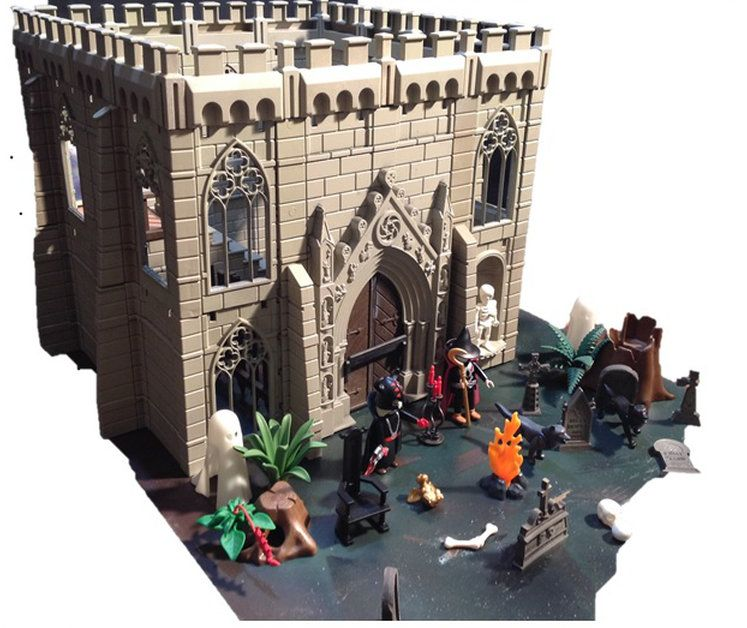 playmobil custom medieval house maison auberge chateaux. Black Bedroom Furniture Sets. Home Design Ideas