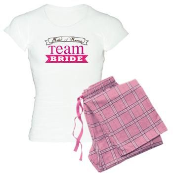 Team bride maid of honor womens pajamas lesruba weddings team bride maid of honor pajamas team bride maid of honor t shirts and gifts bride t shirts personalized wedding gifts favors negle Choice Image